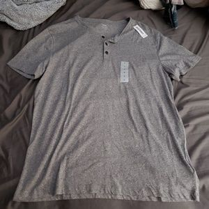 Old Navy Heather Grey Button Detail T-Shirt